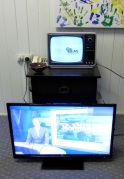 Thorn B&W tv with TEAC tv