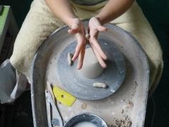 Rolling a few clay lugs...
