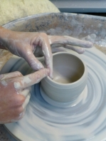 Servant Ceramics_Throwing Process o Compressing the rim