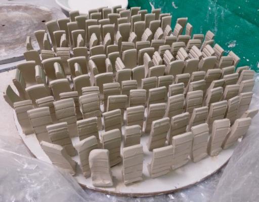 test tile, servant ceramics