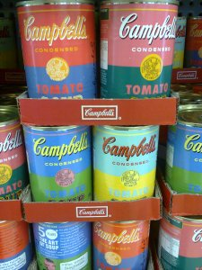 Campbell's soup can goes retro