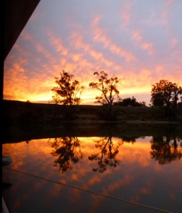 A Murray River sunset