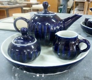 S||C Royal Blue Teapot Set [old work]