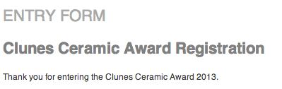 Clunes Ceramic Award Entry 2013