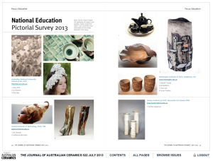The journal of Australian Ceramics 522 July 2013 pg 40-41