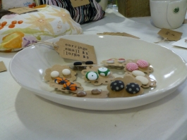 Combining our products - a Servant Ceramic open bowl with a selection of Reborn's earrings