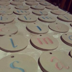 S||C Custom carved tags