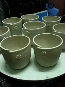 Freshly altered beakers