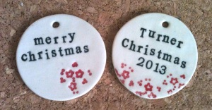 Servant ceramics_Christmas ornament 2013 custom order