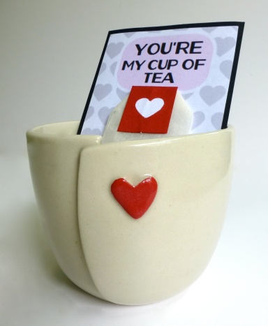 You're my cup of tea - complete with tea and our gorgeous heart cups!