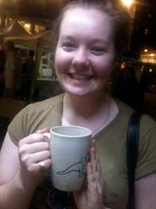 Bronte with her t-rex mug! She's a star!!