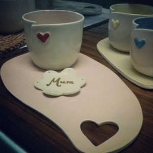 One of our new platters - this heart platter is the perfect match for our heart beakers