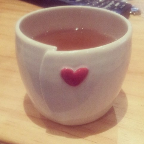 """""""Tea time in my favourite cup"""""""
