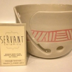 """I bought a yarn bowl from @servantceramics So excited to use it! """