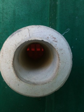 Through the peephole... you can spy the cones - they help in understanding the kiln's temperature