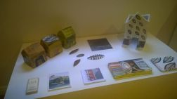 A selection of Steph's houses, brooches and a selection of promotional material