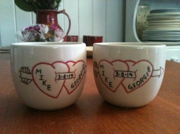 Custom wedding cups