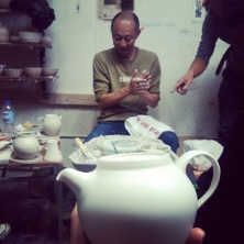 Holding the finished teapot whilst watching the making process was a little surreal.