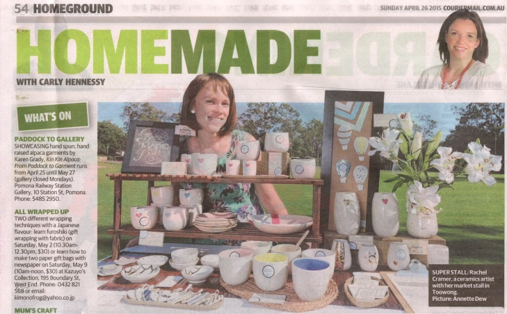 Carly Hennessy. Sunday Mail. April 26, 2015. p 54.  Photo by Annette Dew.