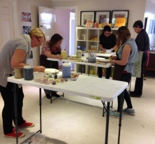 At one stage on Saturday, we had 5 plates in progress!!