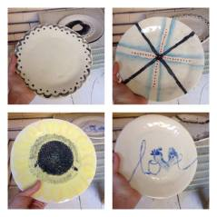 4 plates that were made as part of the ACOS workshop