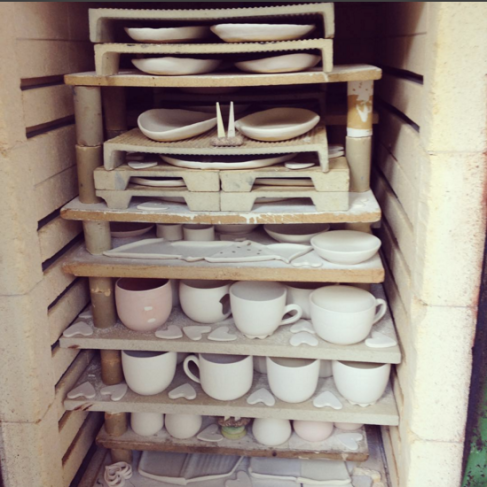 Ready to close the door and fire this glaze kiln up!